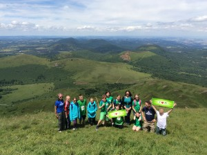 one of the spectacular views from Puy De Dome.